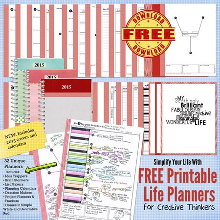 Get your Free Printable Life Planner with 2015 Update at RoPaxman