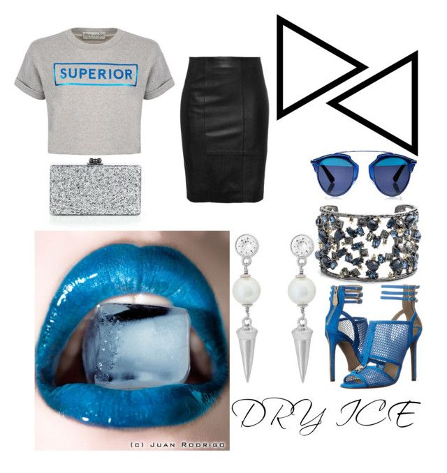 """""""dRY iCE"""" by mariah8995 on Polyvore featuring Versace, Être Cécile, Alexis Bittar, Henri Bendel, Edie Parker and Christian Dior"""