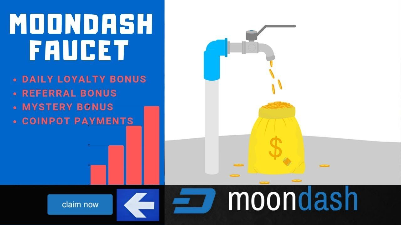 MOONDASH REVIEW : THE BEST COINPOT FAUCET FOR FREE DASH