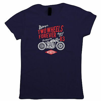 Two Wheels Forever Womens T-Shirt – Motorbikes Gift Her Mum #fashion #clothes #s…