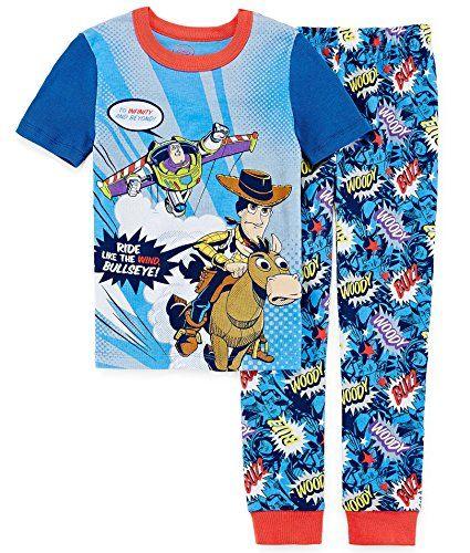 60123a0443 TOY STORY Boys Size 10 Woody Buzz and Bullseye Pajama Pants Set    niftywarehouse.com