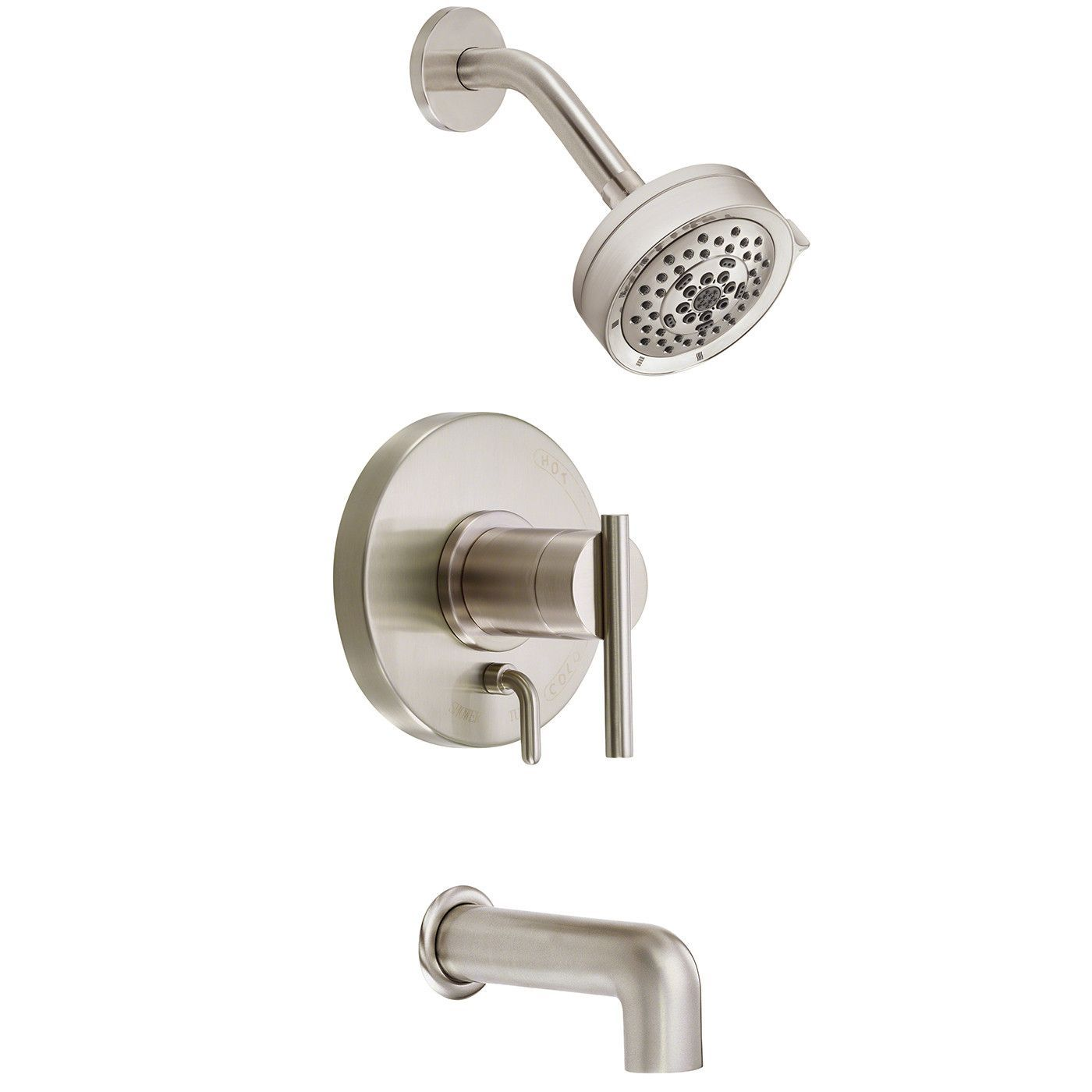 Danze D512058BNT Brushed Nickel Pressure Balanced Tub and Shower ...