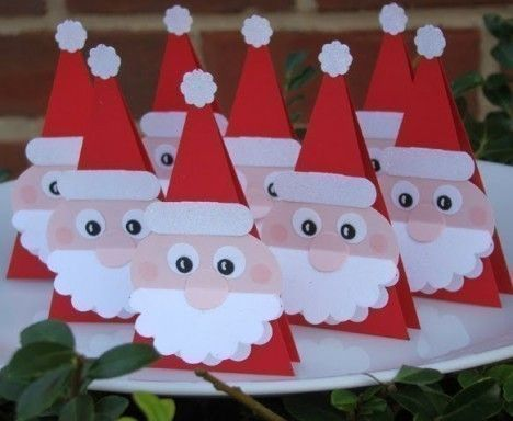 Segnaposto Natalizi Rossi.Babbo Natale Segnaposti Natalizi Natale Natale Segnaposto