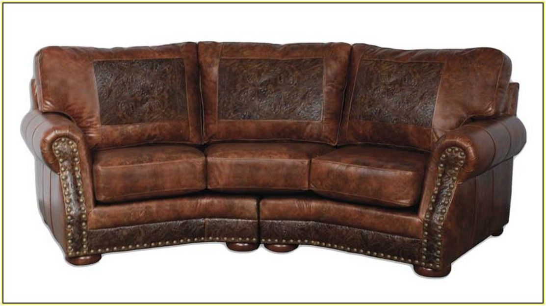 Curved Leather Sofa | HOME-new furniture in 2019 ...