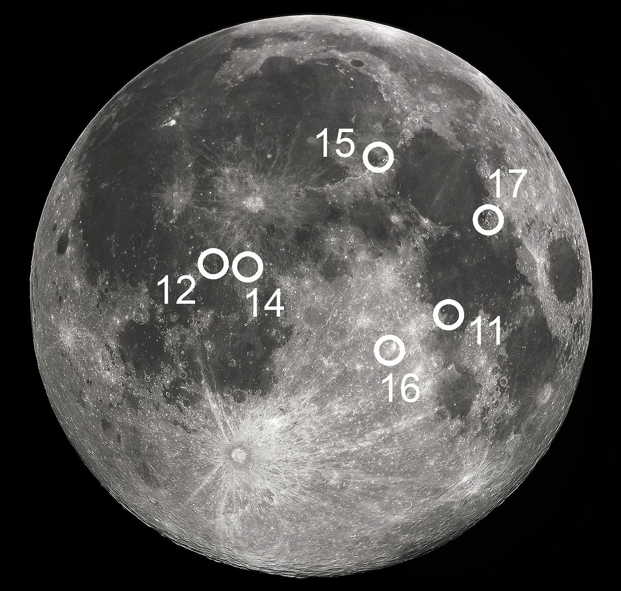 fromtheearthtothemoon13 A Map of the Apollo Landing Sites on