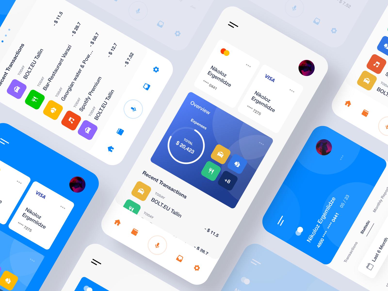Banking Mobile Design Inspiration Mobile App Graphic Design Services