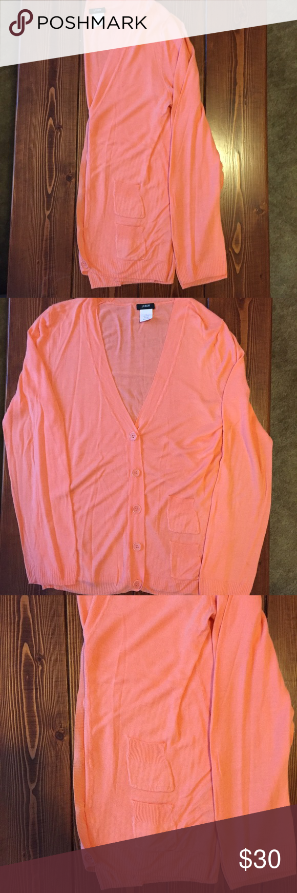 J. Crew coral cardigan | Sweater cardigan, One color and Cardigans