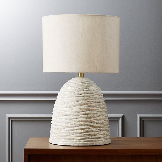 Amazing White And Gold Shine Organic In This Quirky Cool Table Lamp. Modern Mound  Starts With A Ceramic Base Covered In A Glam Crackle Finishu2013u2013white Fissures  And ...