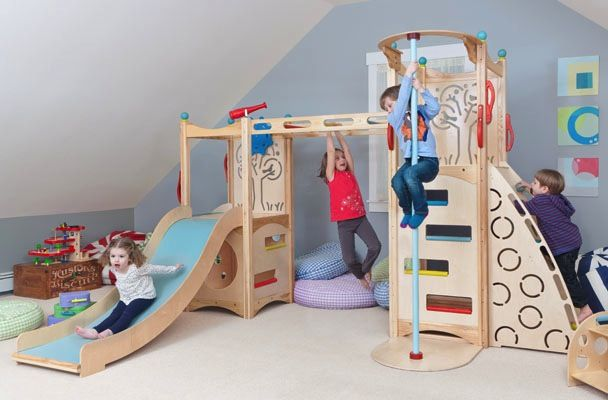 Super fun and so many things to do Beautiful to look at too     This indoor playset from CedarWorks Rhapsody Collection will be so much fun when alone or when the friends and cousins come over     Included are monkey bars, firepole, chalkboard, ladder, slide, step ladder, steering wheel, telescope, 2 tree and bubble cut-outs and 2 decks and nooks.     Made from furniture grade premium ash and Baltic Birch laminated panels. The cut-outs are smooth and attractive.