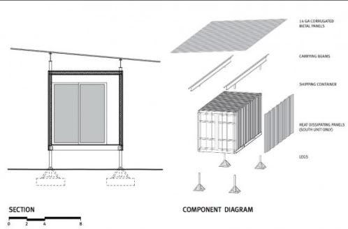 Seccion vivienda contenedor casa de containers pinterest - Vivienda contenedor maritimo ...