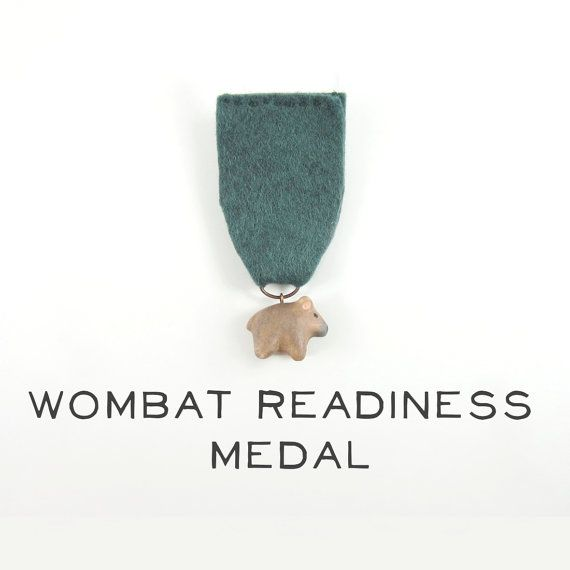 Wombat Readiness Medal by HandyMaiden on Etsy, $48.00