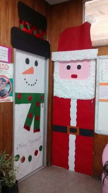 Puertas navide as educaci n pinterest christmas for Porte decorate scuola