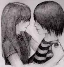 Resultado De Imagen Para Imagenes De Novios Emos Para Dibujar Amor