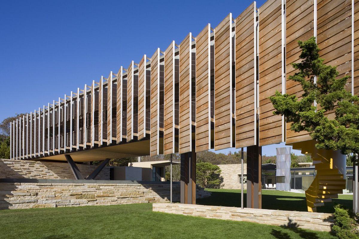 Architectural louvers louver wood screen facade
