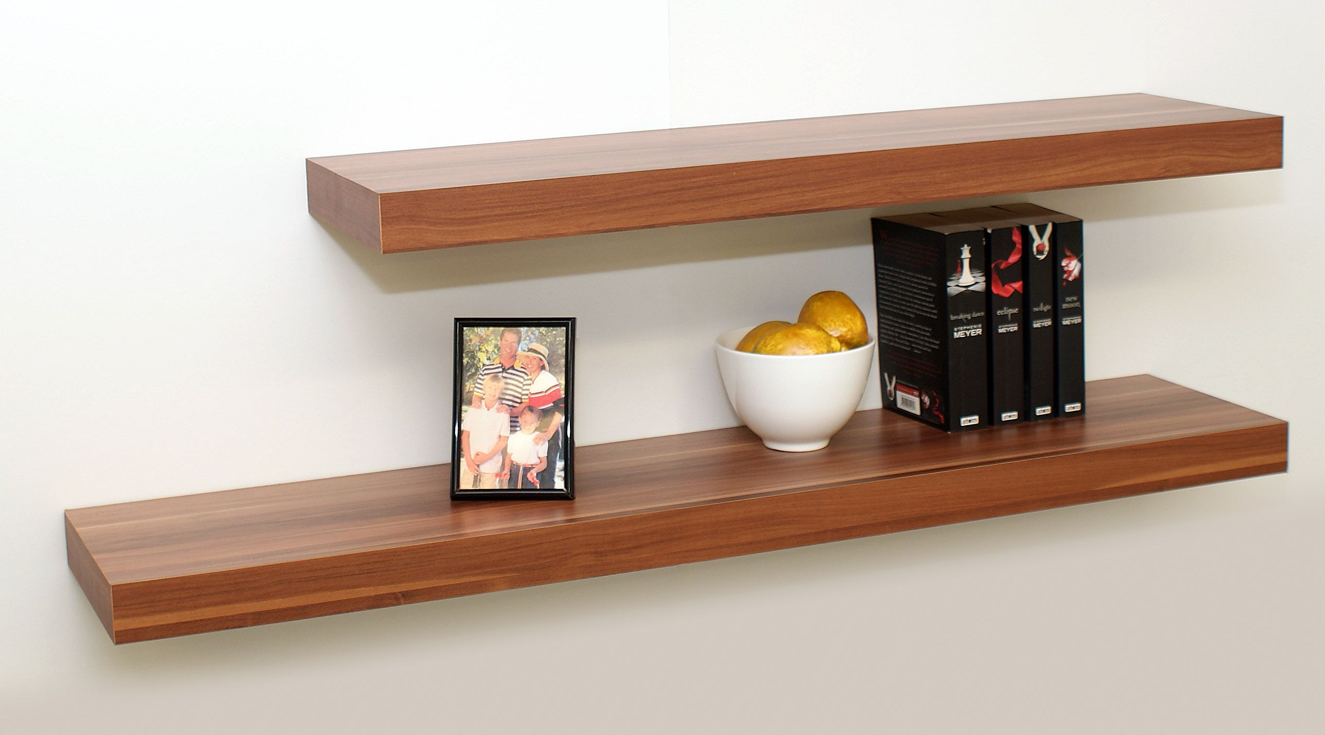 Floating Bookshelves Be Equipped Readymade Wall Shelves Umbra Conceal Book Shelf Wood Look