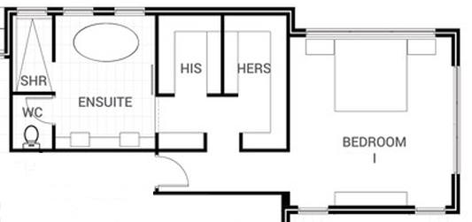 Master Bedroom Ensuite Design Layout master bedroom bathroom with 2 walk ins - google search | master