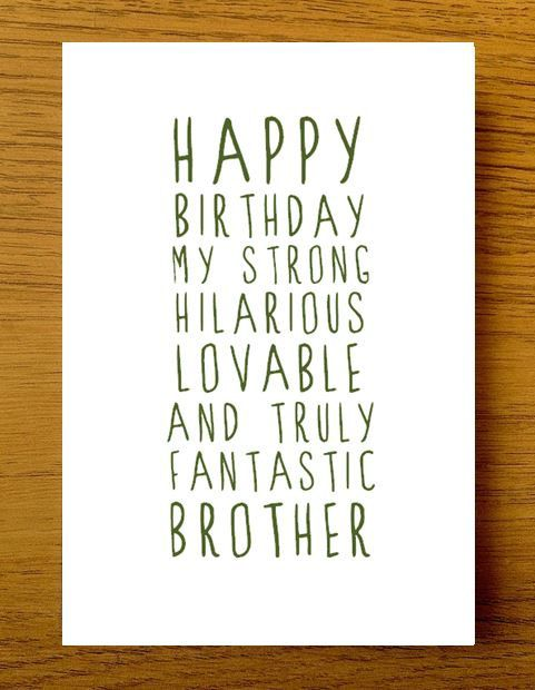 Sweet Description Happy Birthday Brother Card Card For