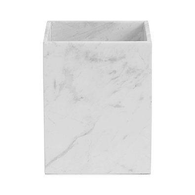 Camarillo Marble Wastebasket Marble Bathroom Accessories Waste Basket Bathroom Interior Design