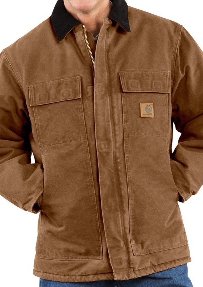 Carhartt Carhartt Arctic Work Coat For Men Outerwear Blue Work Jacket Work Coat Mens Coats [ 1127 x 800 Pixel ]