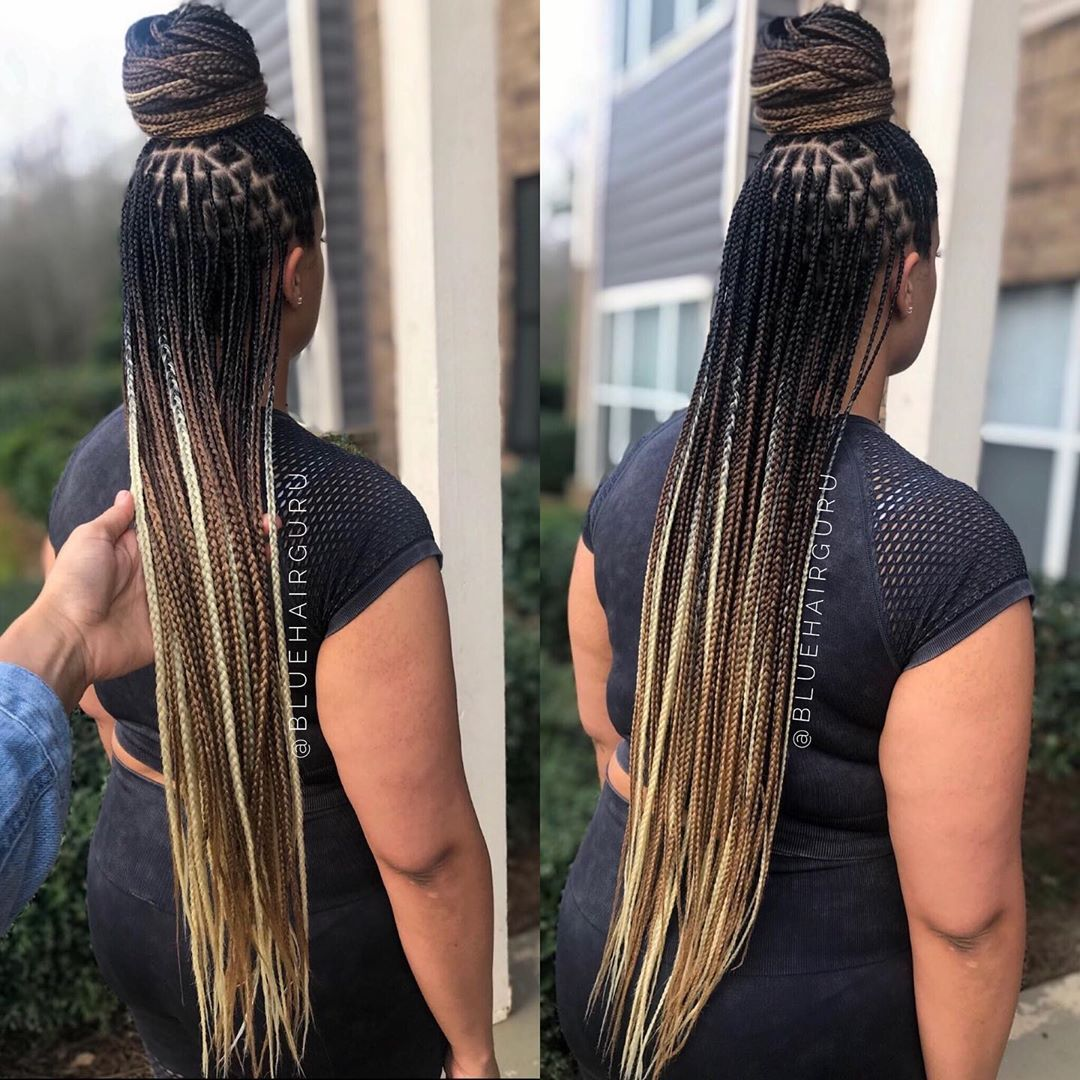 26++ Mixed color braids hairstyles trends