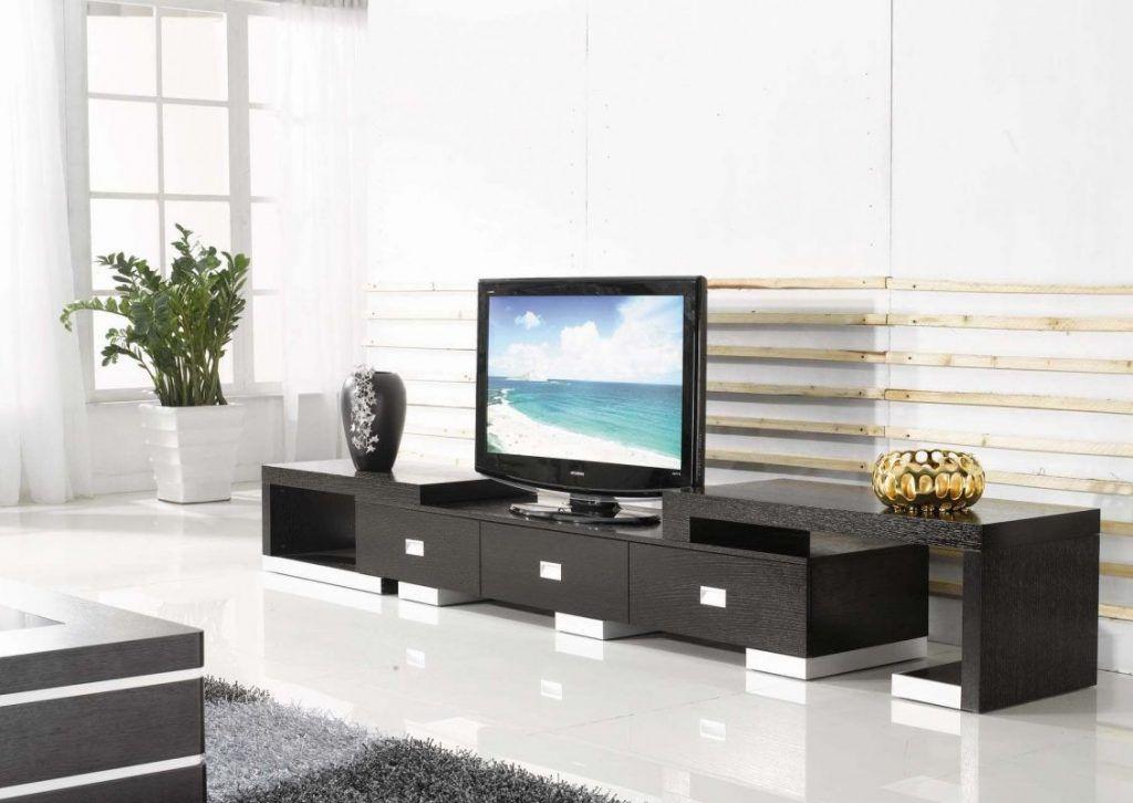 Home Theater : Furniture Dazzling Tv Bench Unit Design Idea In Black ...