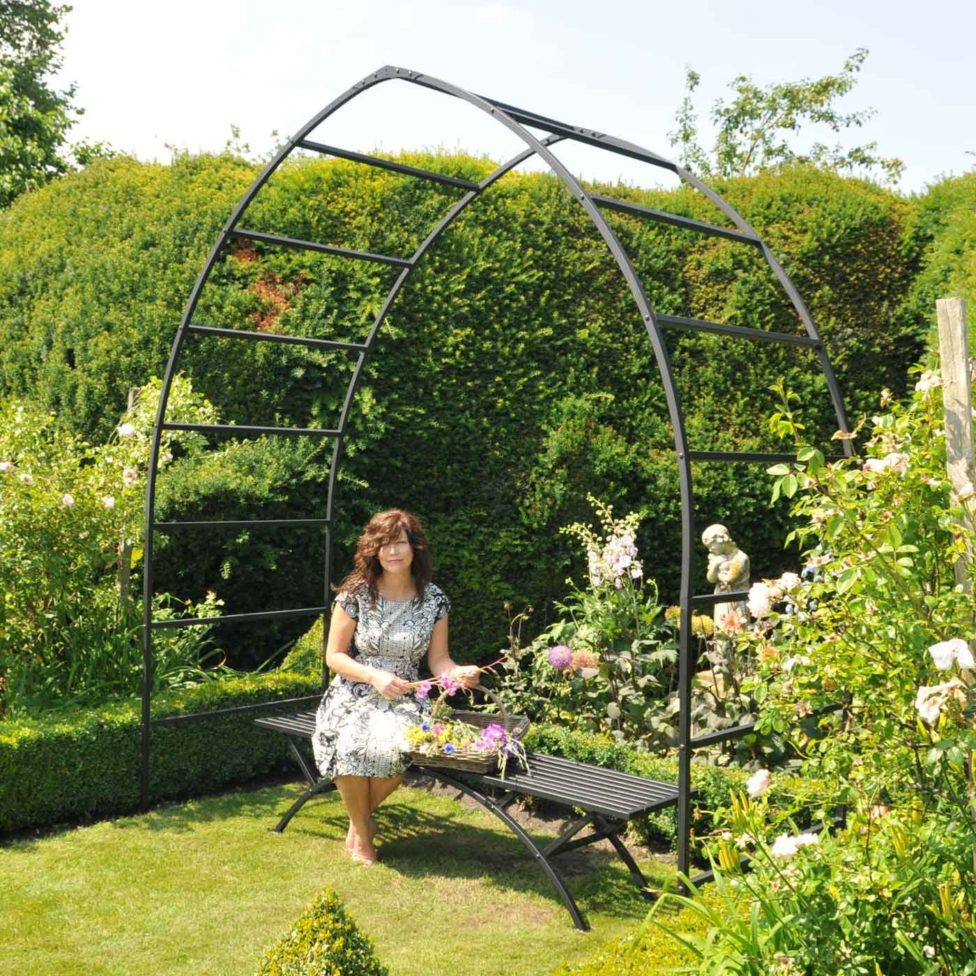 gothic garden arch plant supports at harrod