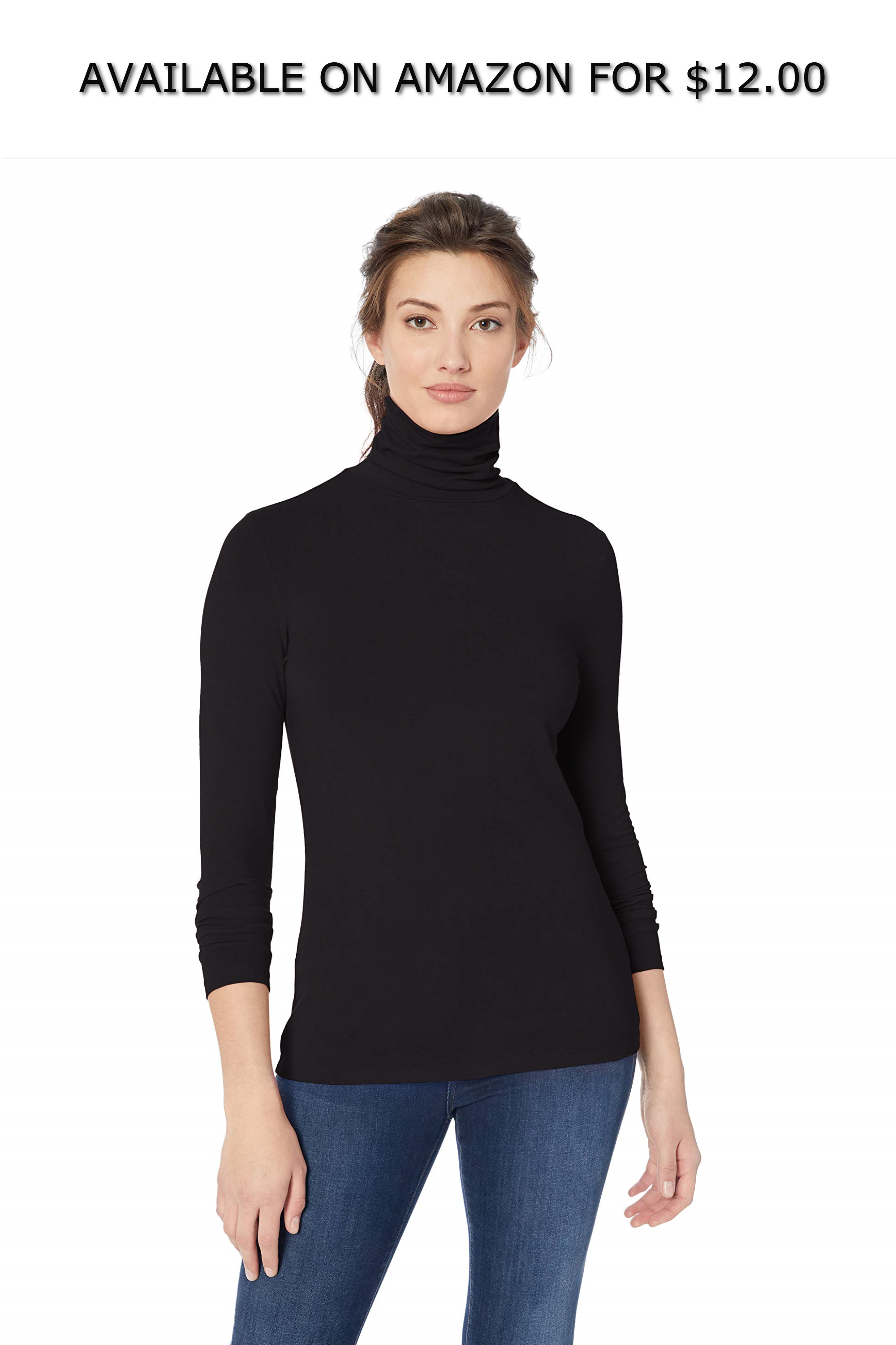 591e31cb6 Amazon Essentials Women's Long-Sleeve Turtleneck ◇ AVAILABLE ON AMAZON FOR:  $12.00 ◇ An
