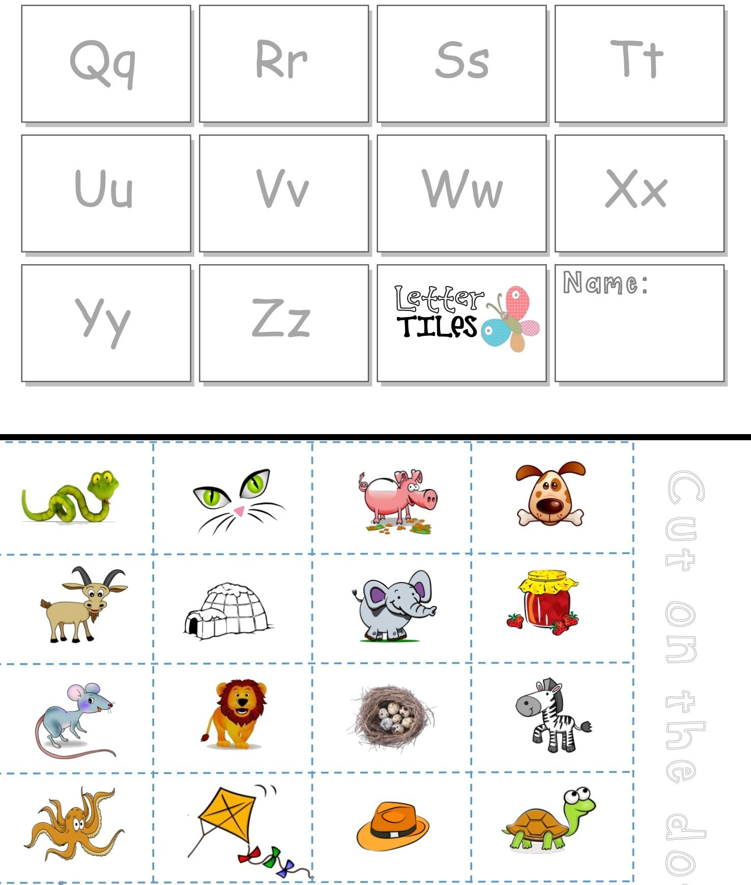 Alphabet Sounds Cut Amp Paste Activity Differentiated For