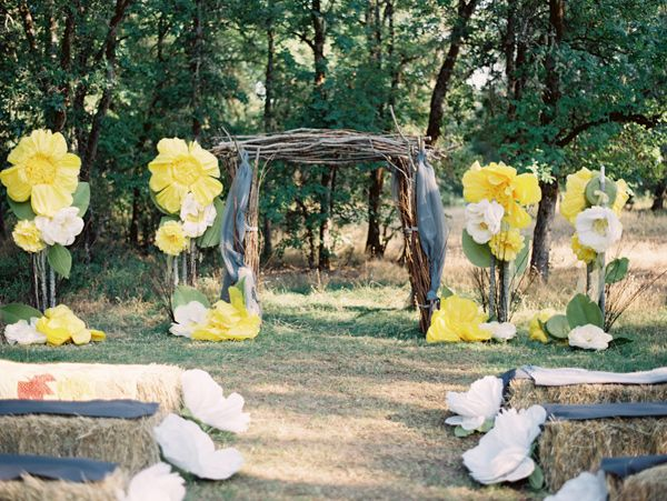 Handcrafted Oregon Wedding Big Paper FlowersPaper