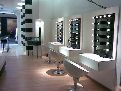 hot black white bathroom/salon | Interior de salón de ...