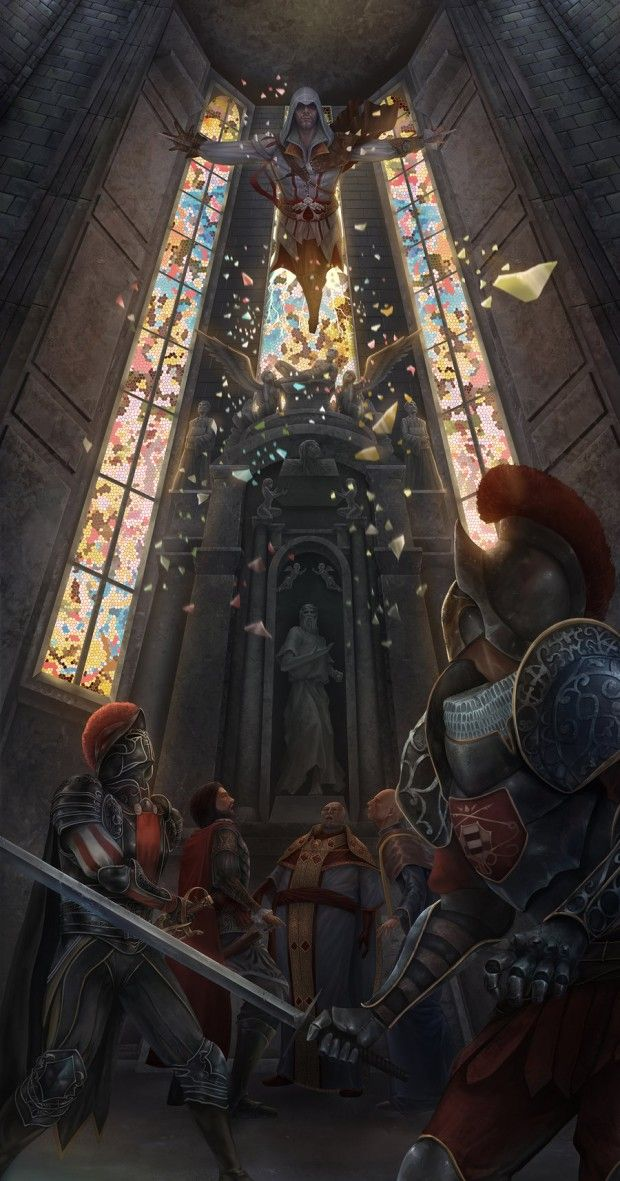 Assassin's Creed. Some of this Ezio art is truly spectacular.
