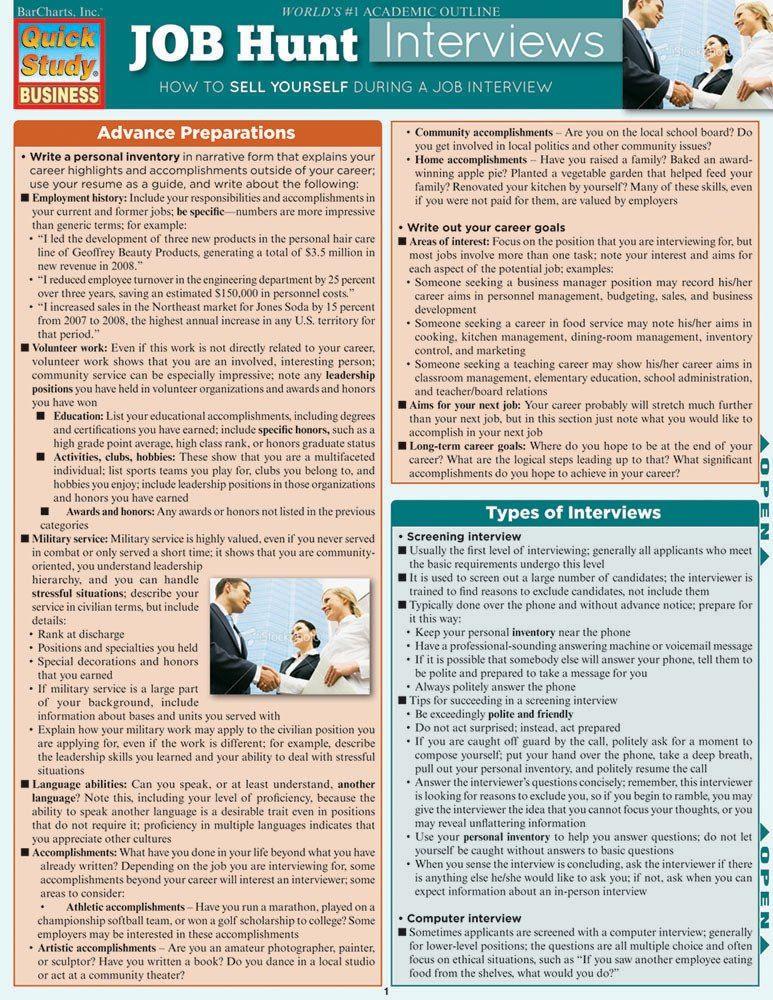 Job Hunt Interviews (9781423215769) Job hunting, Job