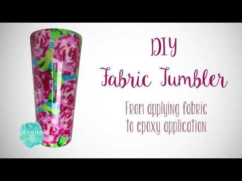 DIY Fabric Tumbler Tutorial -   diy Tumblr gifts