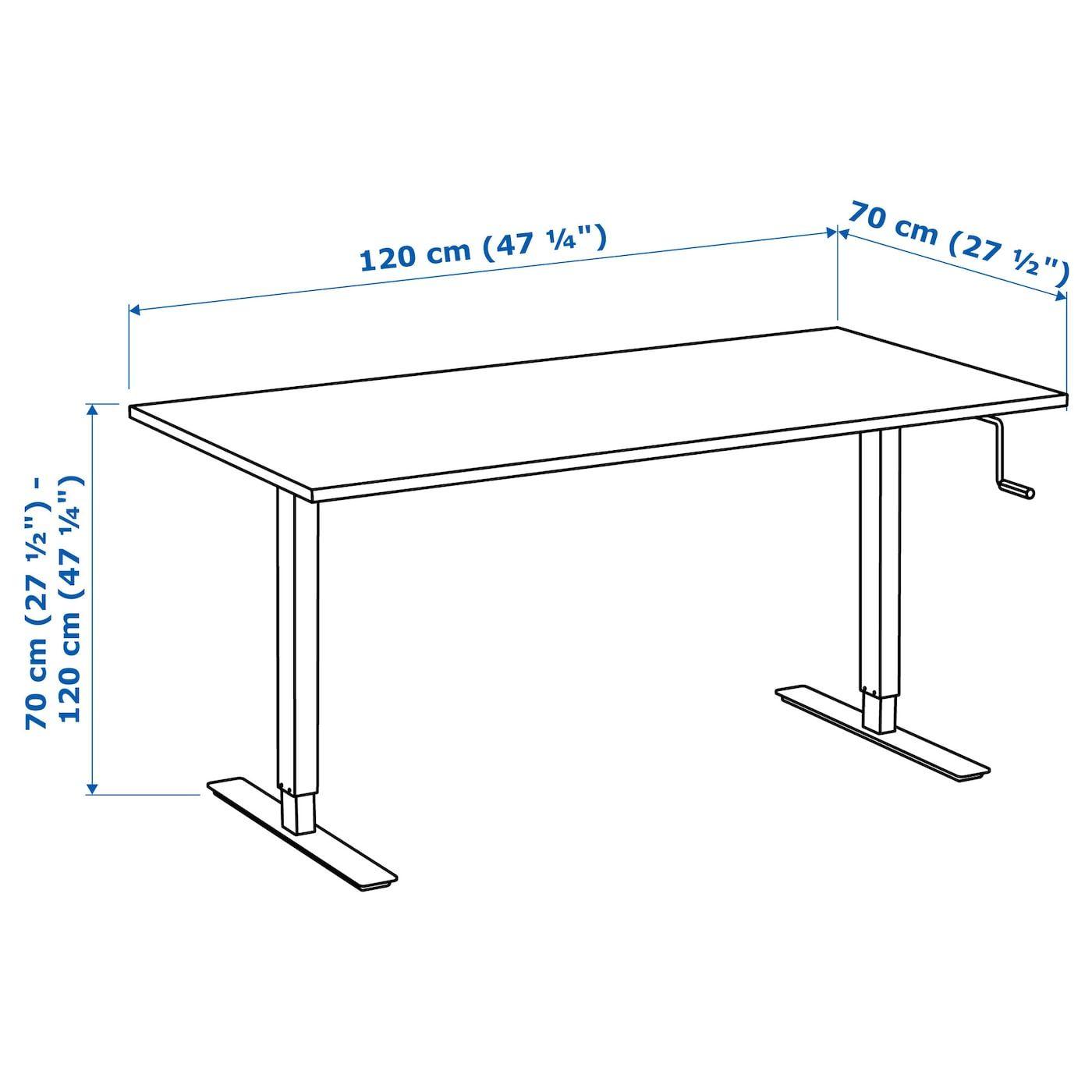 Skarsta Schreibtisch Sitz Steh Beige Weiss Ikea Osterreich In