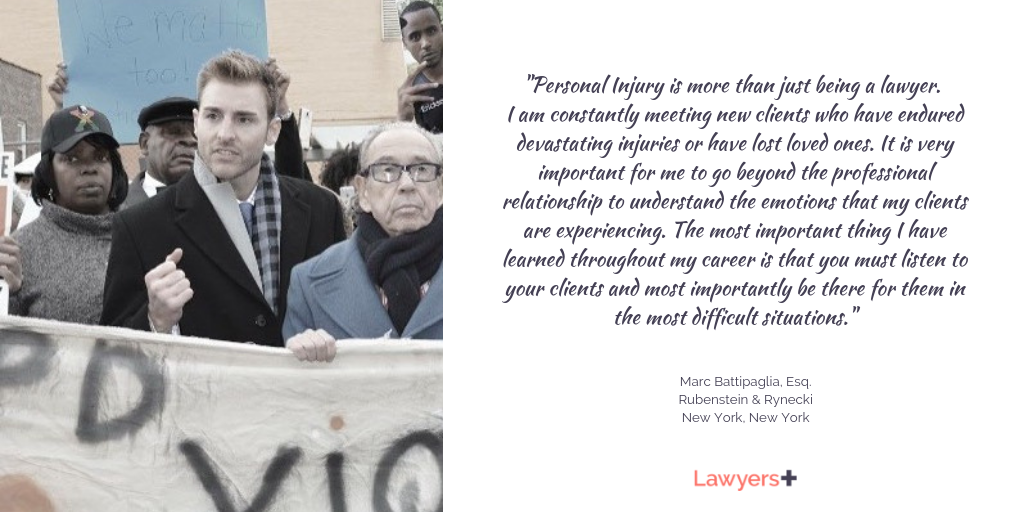 Marc Battipaglia Esq Personal Injury Lawyer At Rubenstein Rynecki Goes Above And Beyond For His Clients Environmental Law Discrimination Law Corporate Law