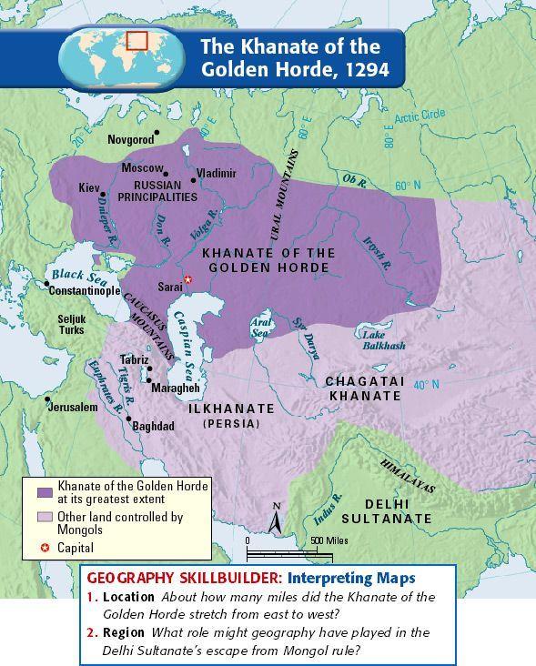 The Khanate of the Golden Horde, 1294 Siberia Pinterest Golden - best of world history maps thomas lessman