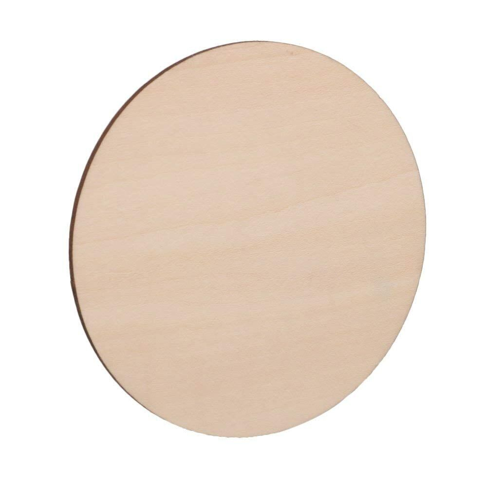 10pcs 100mm Diameter Blank Round Wooden Pieces Natural Unpainted Wood Sheets For Wood Diy Craft Carving Wood Decoration Wood Diy Wood Crafts Diy Wood Crafts