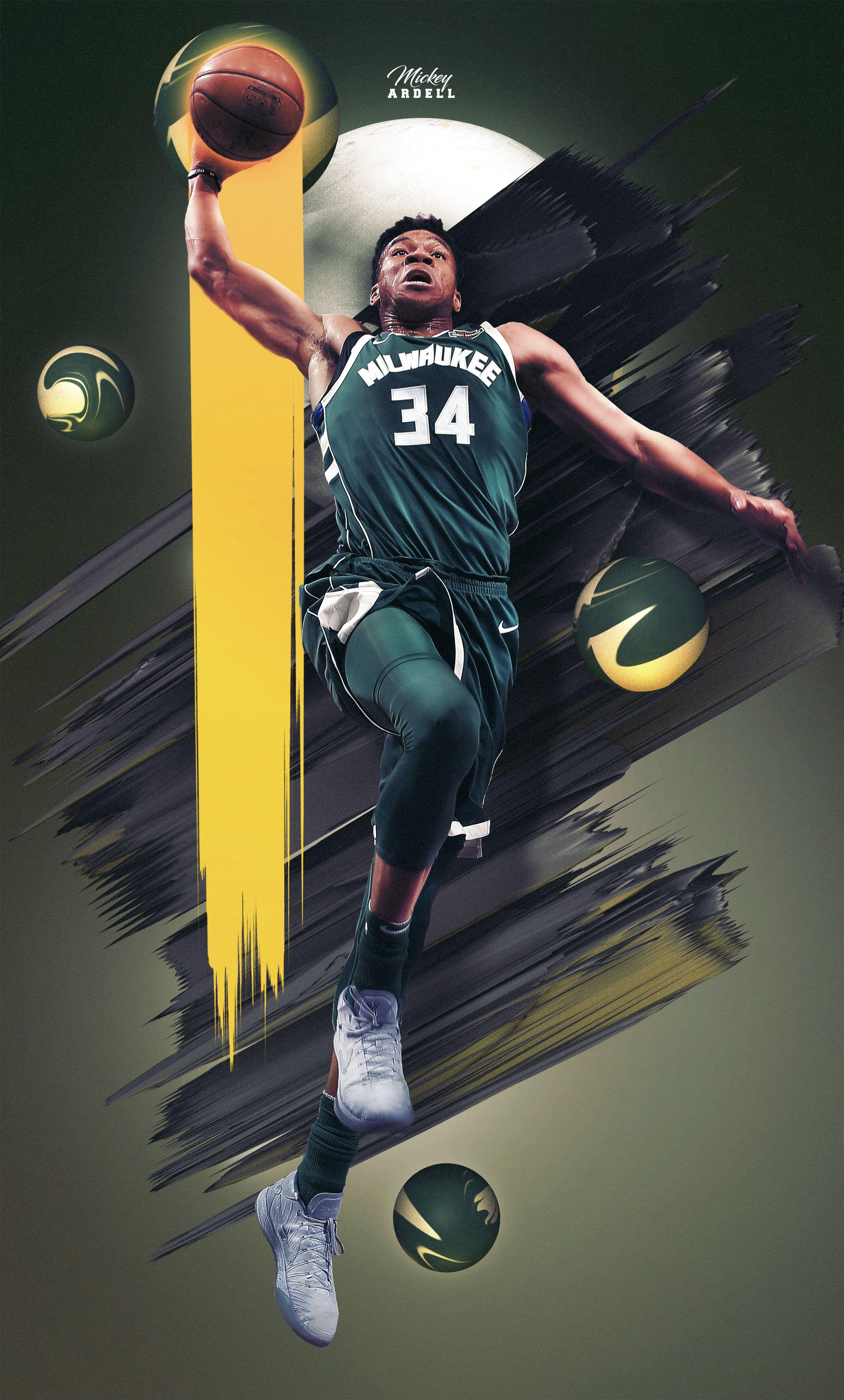 Giannis Milwaukee Bucks Nba Art Wmcskills Giannis