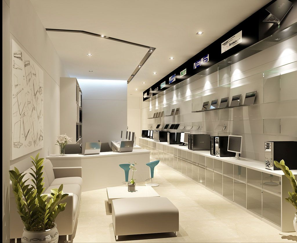 gorgeous room designs with perfect imagination modern retail computer store interior design ideas home design - Retail Store Design Ideas