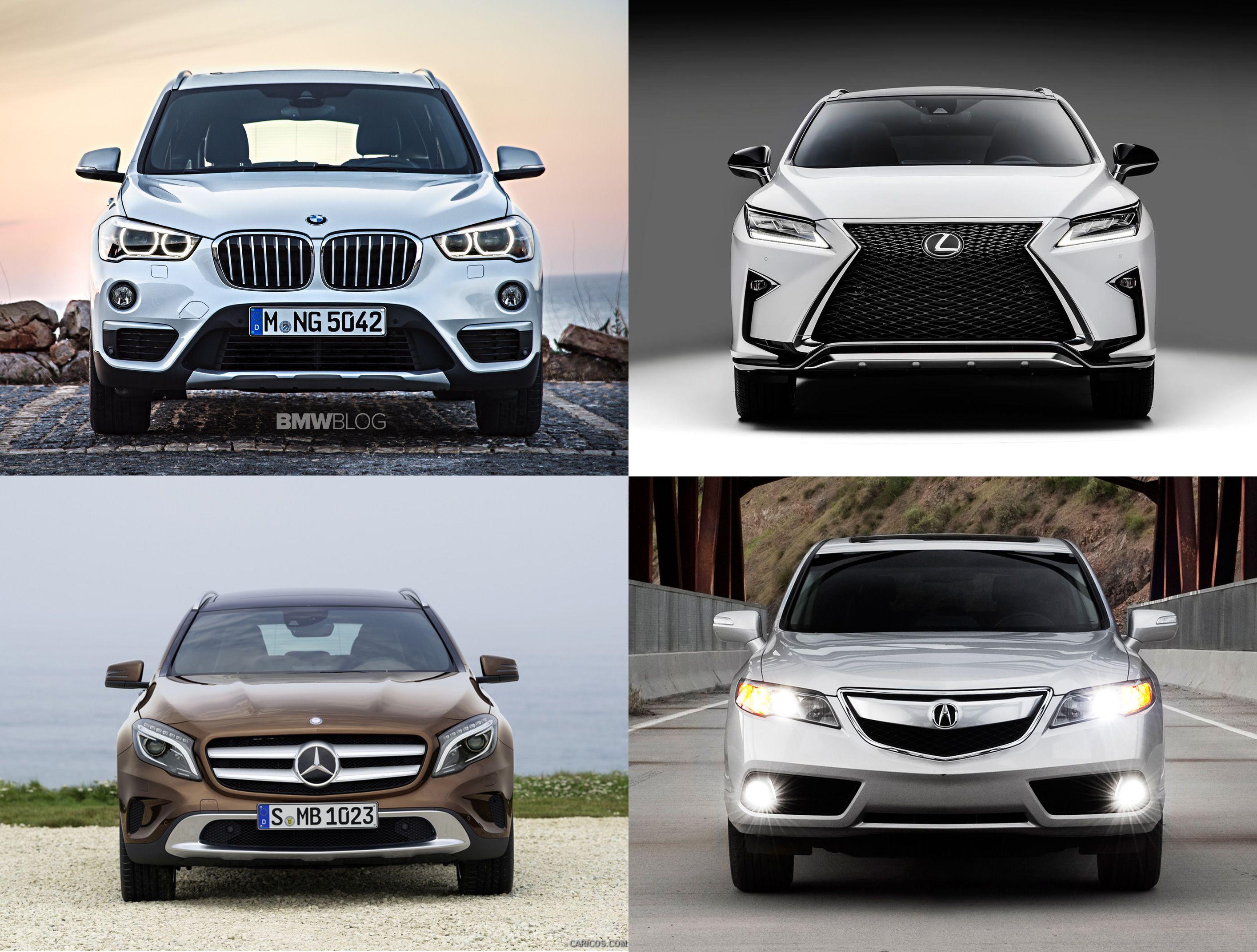 Comparison Between The 2016 Bmw Mercedes Benz Gla Lexus Nx And Acura Rdx