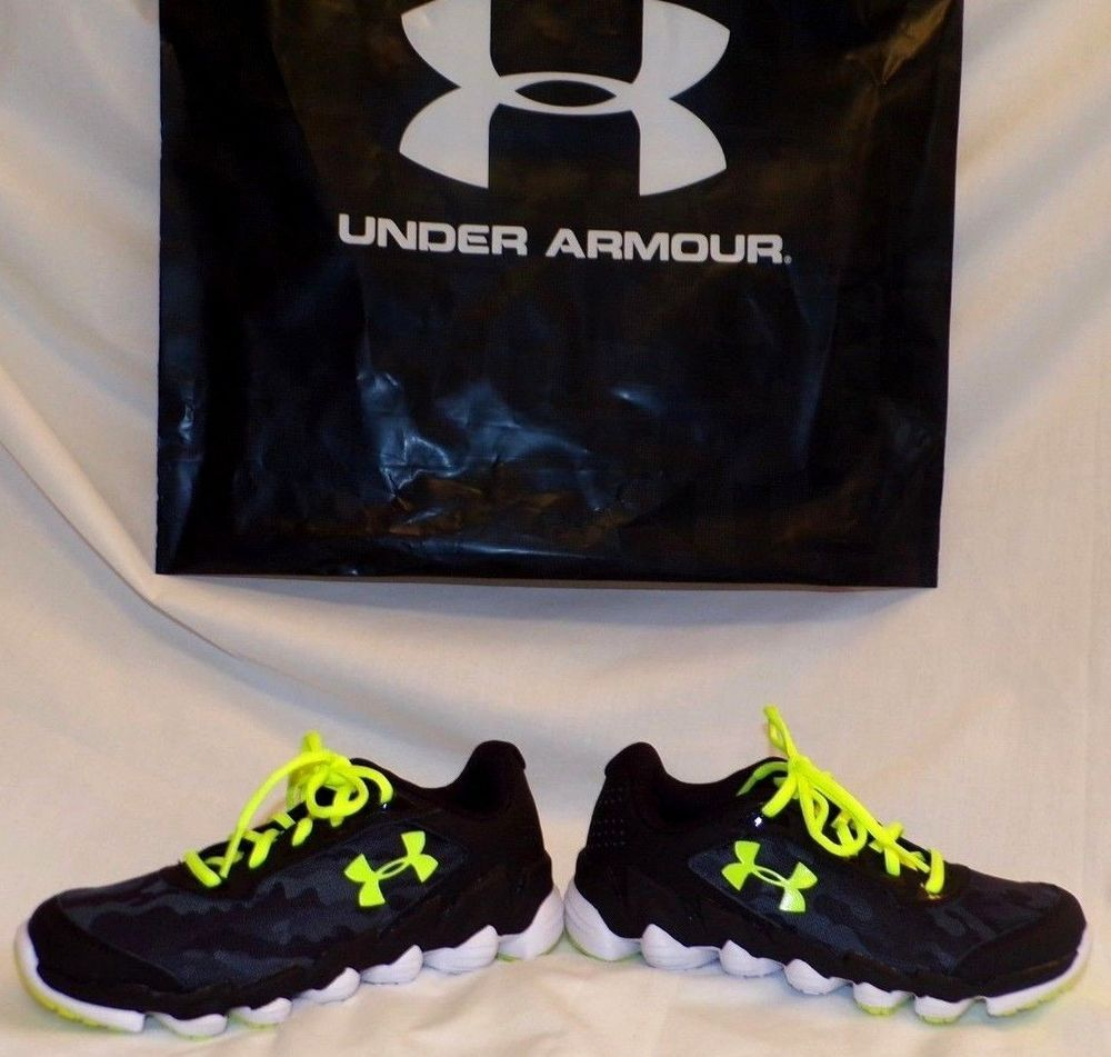 df4e0e36d0668 Under Armour Grade School Spine Disrupt Camo Boys Running Shoes 1286154 001  NIB #Underarmour #SchoolShoes | shoeoholic bootacious | Leather, lace, ...
