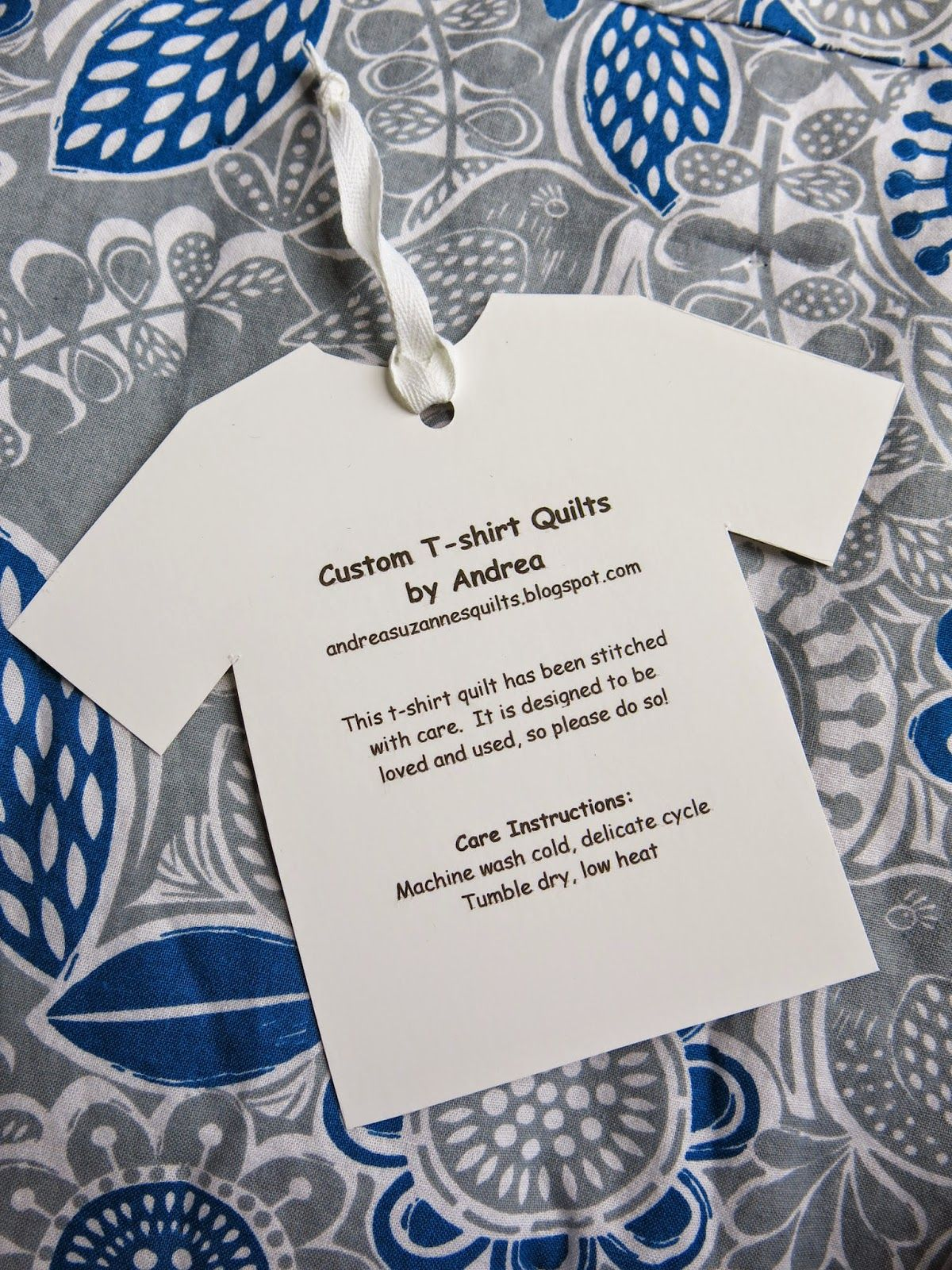T-shirt quilt design instructions - Care Instructions For T Shirt Quilts By Andrea Quilts