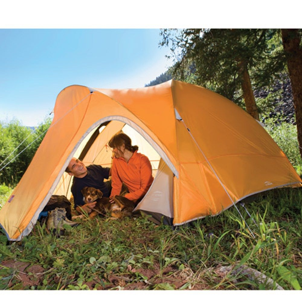 Coleman Hooligan 3 Person Tent -- Iu0027ve had this tent for 3 years and totally love it. Perfect for my husband and I and all our gear for backpacking and car ... & Your entire hiking group will sleep protected from the weather ...