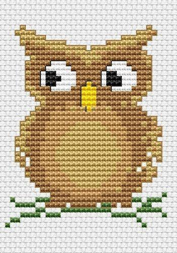 Cute Owl Free Cross Stitch Pattern. quite a few nice free cross stitch patterns at this website.