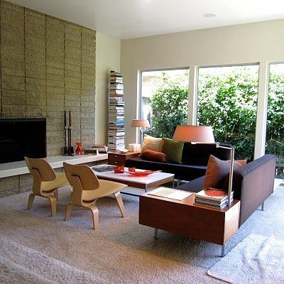 Mid-century modern heaven   (except without the white carpet...blegh)