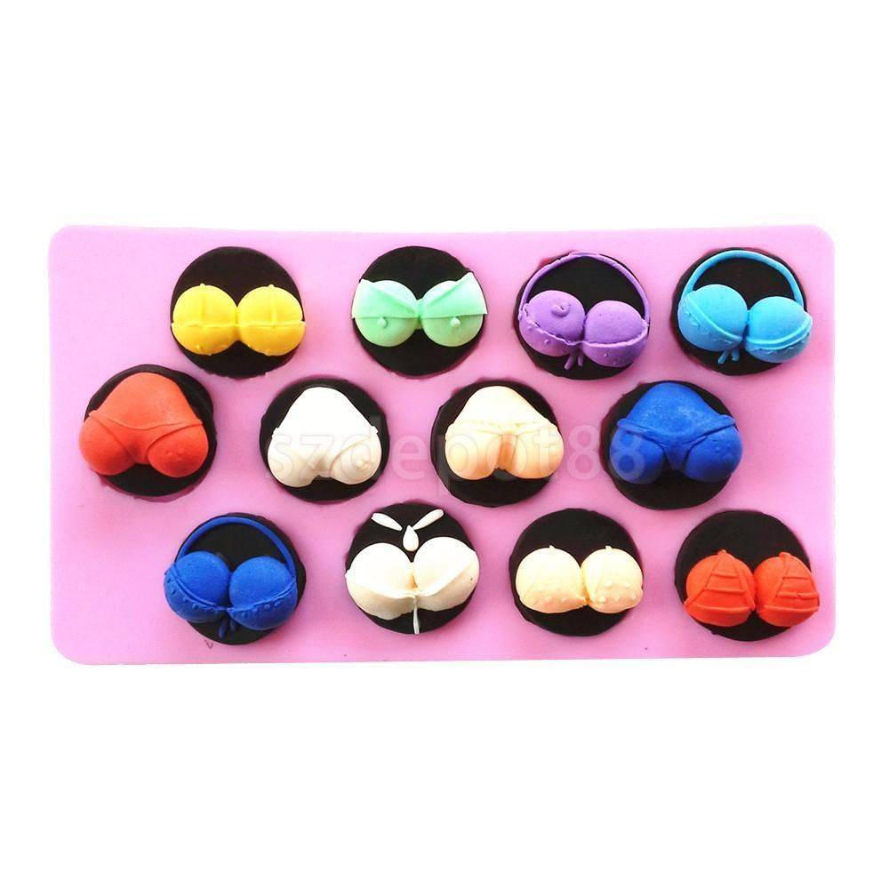 Details About Fun Lipstick Brushes Silicone Cake Mould Fondant Clay Hen Night Party Favor