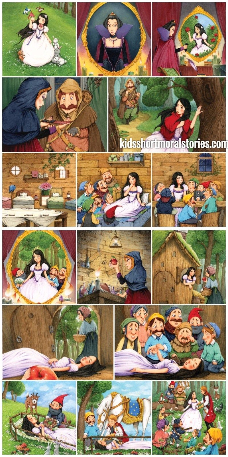 snow white and the seven dwarfs short story | anarkali | Story of