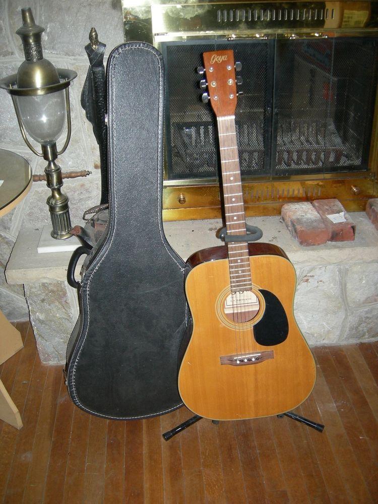 Goya C F Martin G 300 N Acoustic Guitar With Vintage Case Guitar Acoustic Guitar Acoustic