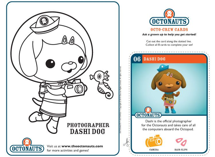 dashi dog example of the printable octonauts page you can flickr photo - Printable Octonauts Coloring Pages