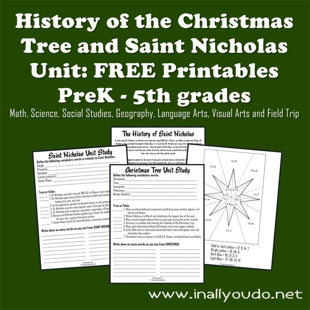 Christmas Tree Amp Saint Nicholas Unit Study